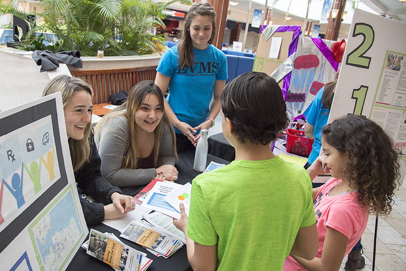 The EVMS Student Government Association hosted Community Care Day Saturday, Feb. 10, at Military Circle Mall in Norfolk. As in years past, the students offered important health screenings free of charge.