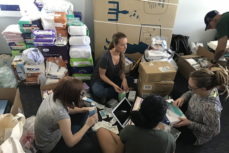 During Hurricane Maria, Puerto Rico was heavily damaged and many hospitals struggled to care for their patients. After seeing the devastation, a group of EVMS students decided they wanted to help.