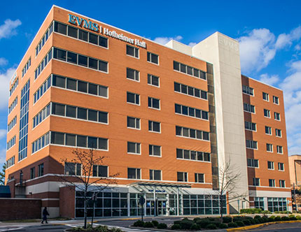 EVMS Hofheimer Hall houses an outpatient clinic for patients with HIV, as well as other practice locations and offices.