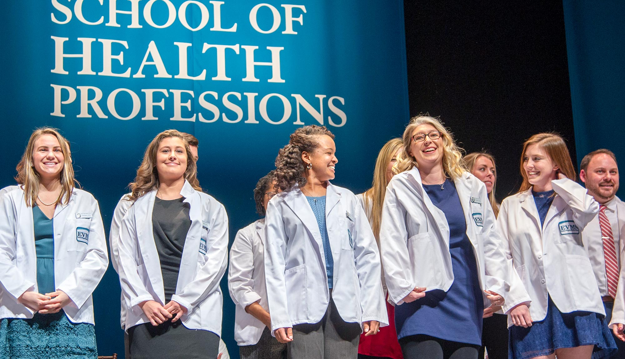 Physician Assistant graduates at the White Coat Ceremony.