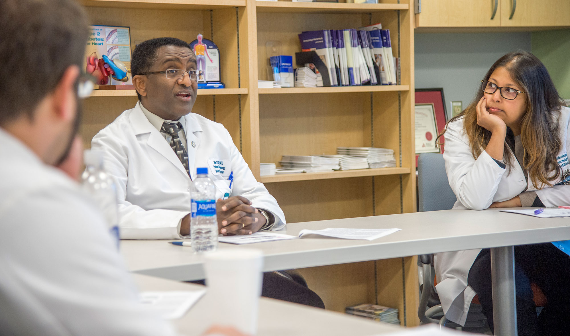 Fellows talk with Dr. Elias Siraj, Chief of EVMS Endocrine & Metabolic Disorders