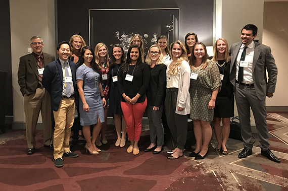 OB-GYN residents gather at an event.