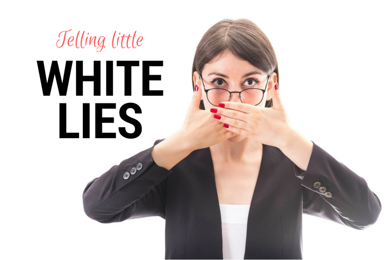 People say the truth sometimes hurts, but does that make telling little white lies OK?