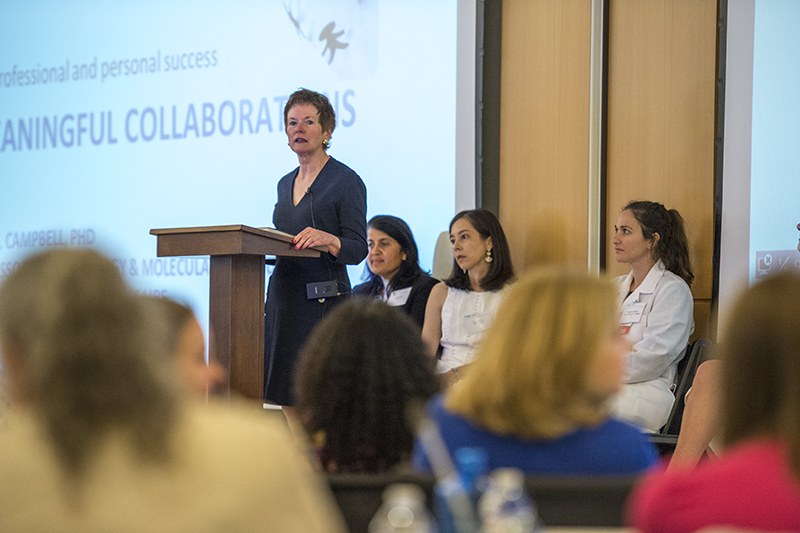 Nearly one hundred people recently gathered for a women in medicine and science networking event at EVMS.