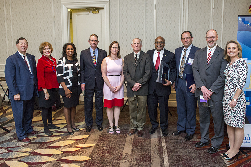 EVMS faculty, alumni and a loyal donor to the school were honored Feb. 23 at the annual Health Care Heroes awards ceremony sponsored by the Hampton Roads publication Inside Business.
