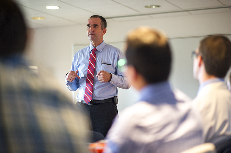 Lt. Gov. Ralph Northam, MD (MD '84) visited his alma mater Sept. 21 to talk with EVMS residents, students and faculty about issues surrounding the care of the mentally ill.
