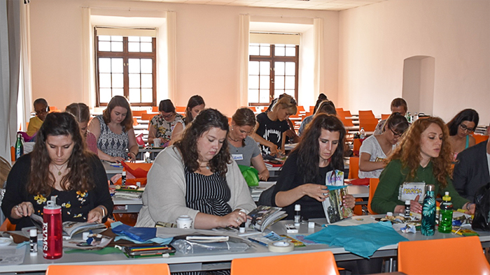 At the University of Osijek, Osijek, Croatia: EVMS students learned about the effects of trauma with Croatian Art Therapy students.