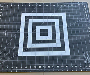 Use a clean calibrated mat or a clean background (plastic or vinyl).