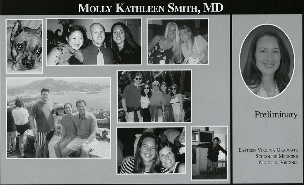 A page from Dr. Smith's yearbook
