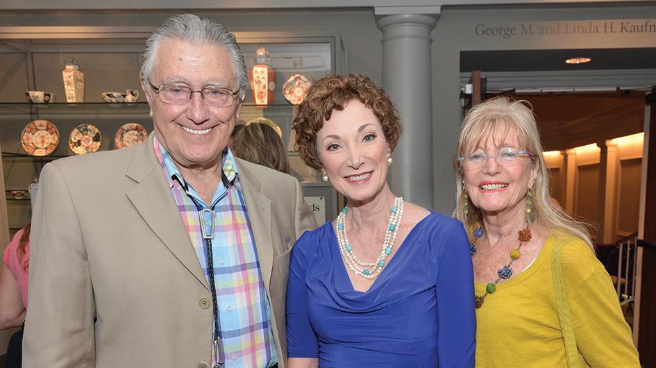 Dr. Aaron Vinik, Jane Gardner and Etta Vinik at The Chrysler Museum of Art