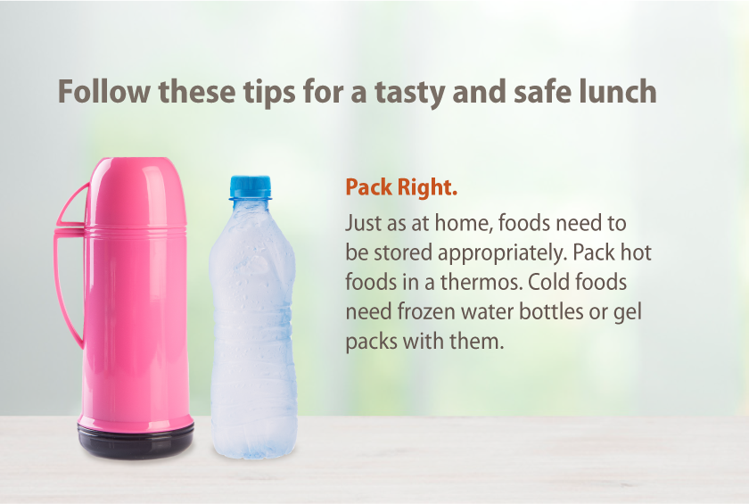 When food has been in a lunchbox all day, eating it for dinner can be risky.