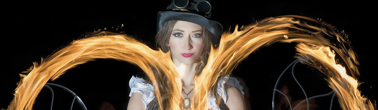Eugenia Gonzales, Standardized Patient and Fire Eater