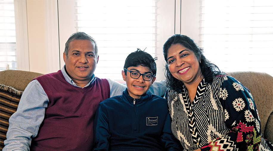 Sunita Dodani, MBBS, PhD, and family