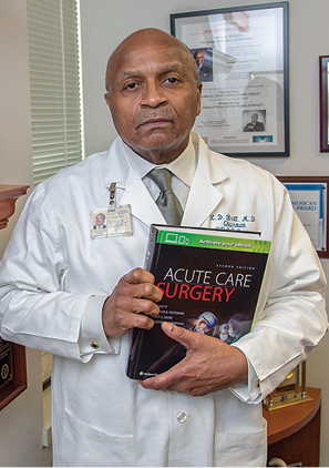 Dr. Britt is one of four surgeons who co-wrote the textbook for Acute Care Surgery.