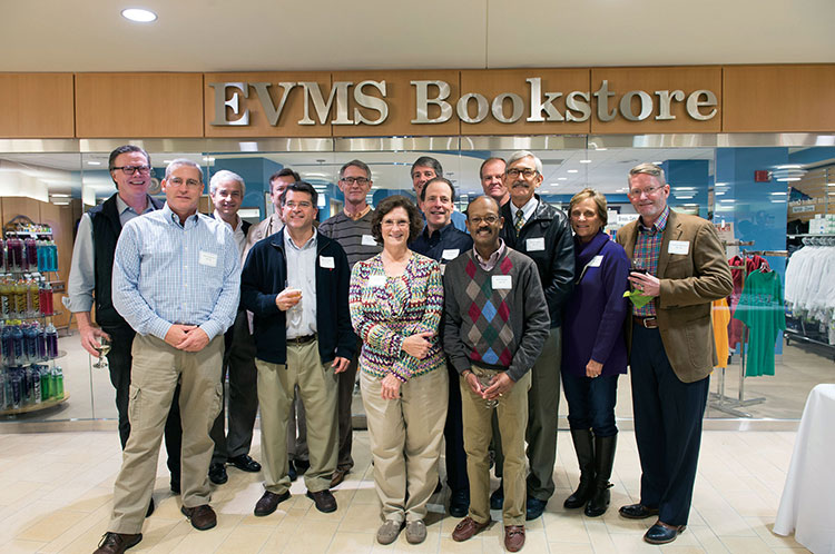 Members of the Class of 1985 gathered to celebrate the EVMS Alumni Weekend POETS Reception.