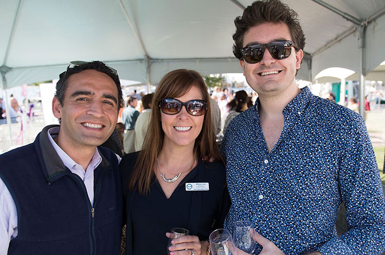 Alumni Weekend saw EVMS OB-GYN residents gather at the EVMS Alumni Chalet at the Town Point Virginia Wine Festival.