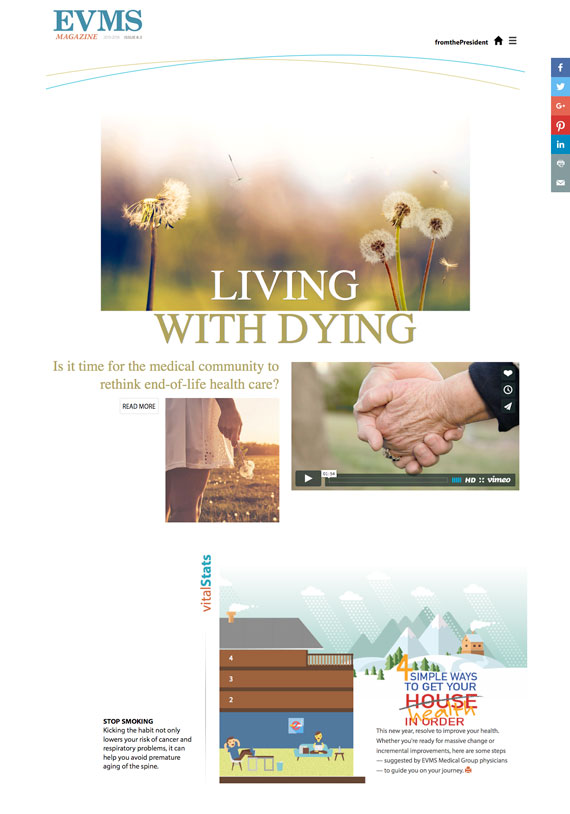 EVMS Magazine home page