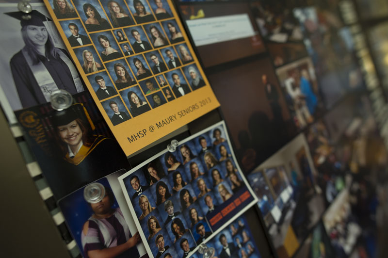 A look at Anne Christie's busy bulletin board of graduates