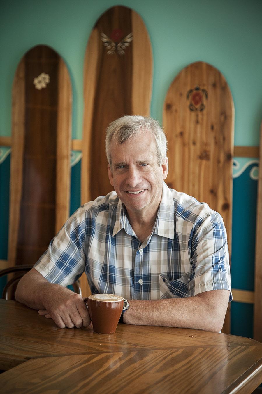 Frank Lattanzio inside Java Surf