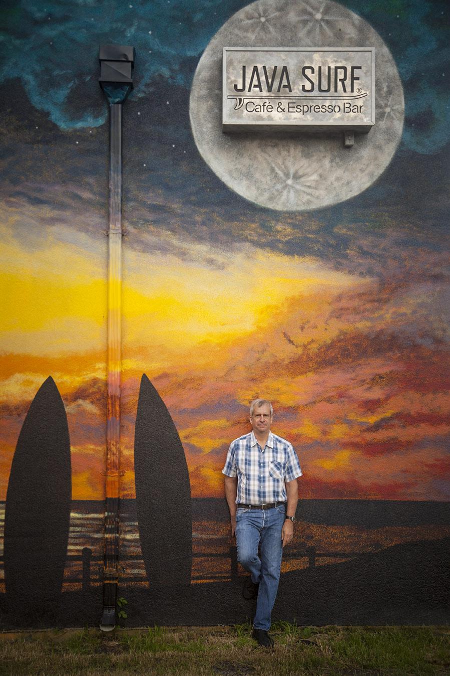 Frank Lattanzio ouside Java Surf