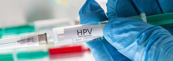 HPV vaccine shot