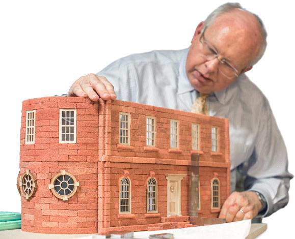 Model house made of sugar