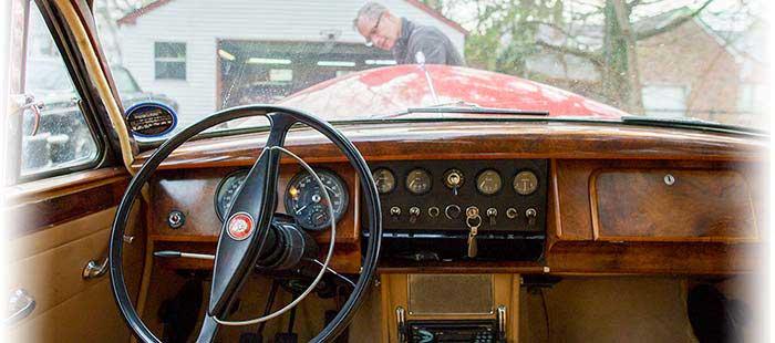 Inside Dr. Flemmer's car