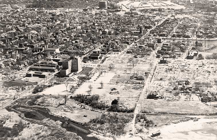 Historic aerial of campus